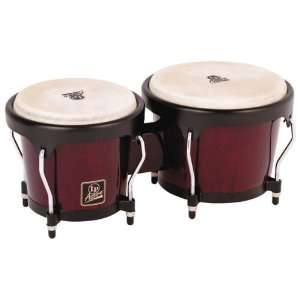 LP Aspire LPA601 DW Wood Bongos (Dark Wood/Black): Musical