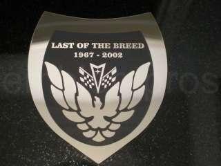 GM LICENSED, LAST OF THE BREED LOTB EMBLEM BADGE, MIRROR STAINLESS