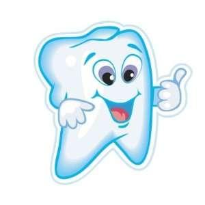 Happy Tooth Teeth Dentist Dental Round Sticker