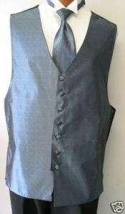 Light Blue Bill Blass Fullback Tuxedo Vest & Tie XLL