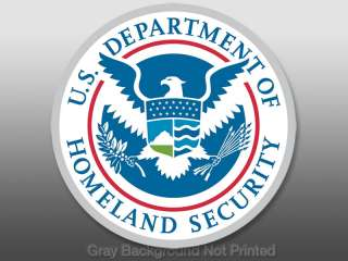 DHS Homeland Security Seal Sticker  decal logo us dept