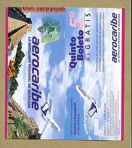 VINTAGE AIRLINE TICKET JACKET AEROCARIBE