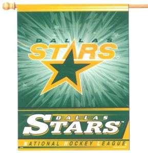 DALLAS STARS NHL 27X37 VERTICAL HOUSE FLAG