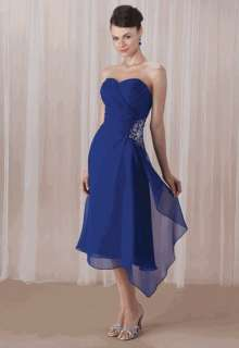 New Sweetheart Chiffon Evening Party Prom Gown Bridesmaid Dress