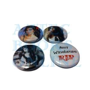 Amy Winehouse 1 Buttons, Set of 4