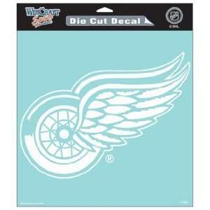 NHL Detroit Red Wings 8 X 8 Die Cut Decal Sports