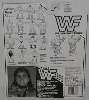 RARE WWF WWE 1991 Hasbro BRUTUS Barber Beefcake Flattop Series 3