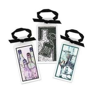Wine Bottle & Glasses Gift CardSet of 12