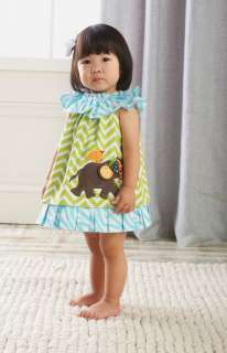 Dress Safari Collection Green Blue Baby Girl 12 18 month 2T 3T