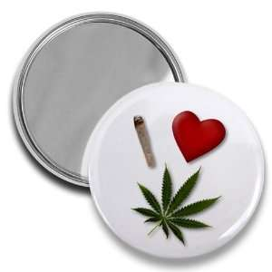 I HEART WEED 420 Marijuana Pot Leaf Joint 2.25 inch Pocket