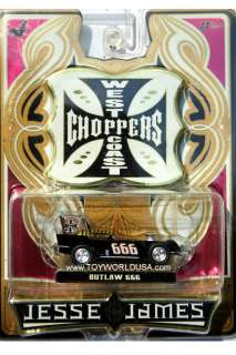 2006 Jesse James West Coast Choppers Outlaw 666 black   gold