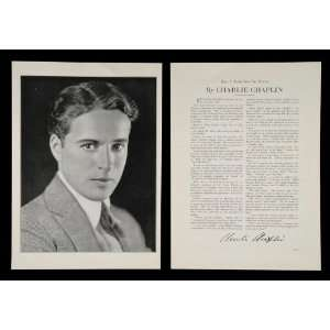 1930 Charlie Chaplin Tramp Actor Silent Film Star Print
