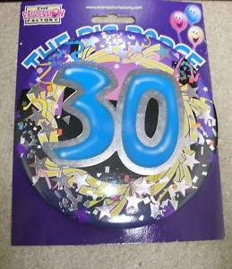 HAPPY 30TH BIRTHDAY GIANT MEGA BADGE   30