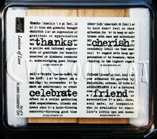 of Love STAMPS SET thanks friend celebrate cherish WORDS UM