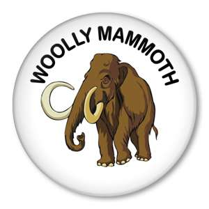 WOOLLY MAMMOTH Ice Age 1.5 pin button badge NEW wooly