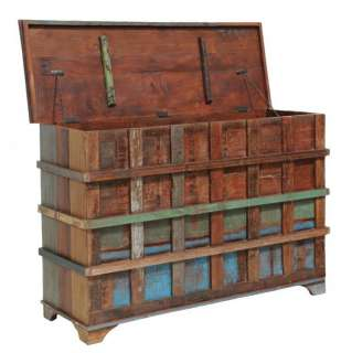 colored Storage Trunk spectacular Reclaimed wood distressed