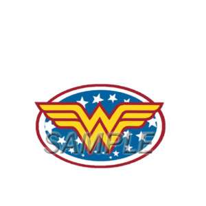 WONDER WOMAN LOGO T SHIRT IRON ON TRANSFER 3 SIZES!