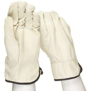 West Chester 990 Leather Glove, Shirred Elastic Wrist Cuff, 10.5