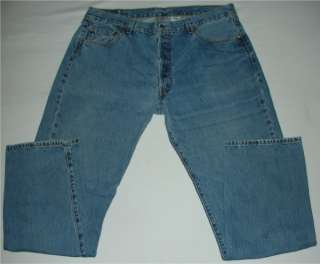 Mens Levis Classic 501s 501 Straight Leg Button Fly Blue Jeans size