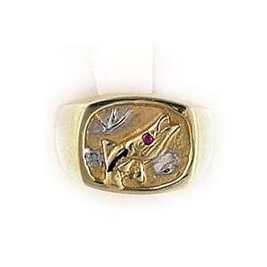 Reyes del Mar 14K Gold Opal Sports Band Snook Ring