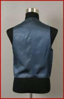 MENS MEDIUM BLUE DRESS SUIT VEST 38