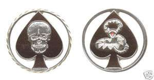 ARMY KILLER SKULL SPECIAL FORCES K CHALLENGE COIN