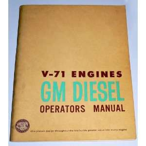 V 71 Engines Detroit Diesel Operators Manual: Books
