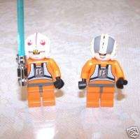STAR WARS LEGO 2 MINIFIGS REBEL PILOT LUKE+WEDGE 6212@@