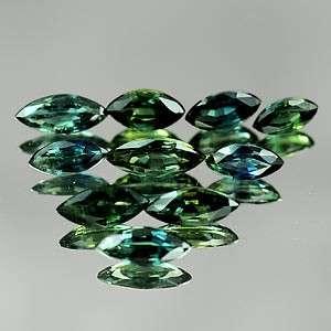 Natural 3.13ct Blue Green Sapphire 6x3 Marquise VVS 10pcs Loose Stones