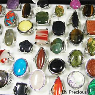 wholesale jewelry lots 10pcs Big Natural stone Rings New