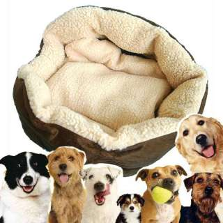 Big Large Luxury Warm Round Unique Soft Pet Dog Cat Puppy Bed USPS