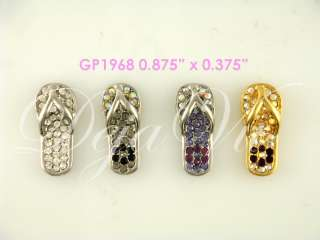24 CUTE CRYSTAL FLIP FLOP PENDANT WHOLESALE MADE WITH SWAROVSKI