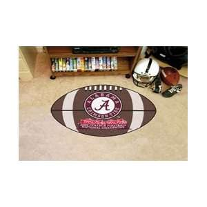 Alabama Crimson Tide Football Shaped Door Mat Rug National