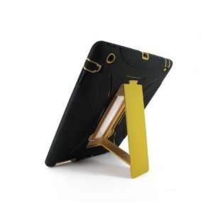 Black/Gold Double Layer Hybrid Silicon Case Skin + Hard