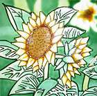 Sunflower Flower Wall Art Tile Trivet 8x8 Ceramic Nice