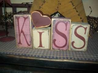 PRIMITIVE VALENTINE BLOCK SIGN~~KISS~~HEART BLOCKS~~
