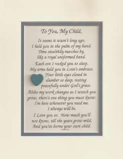 GOD Grace CHILD Daughter LOVE Son verses poems plaques
