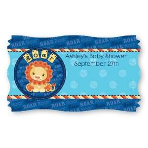 Lion Boy   Set of 8 Personalized Baby Shower Name Tag