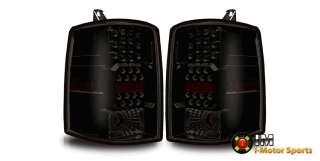 97 98 Jeep Grand Cherokee LED Tail Lights Black Housing Smoke Lens