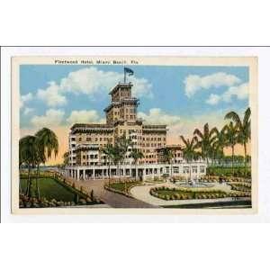 Reprint Fleetwood Hotel, Miami Beach, Florida: Home