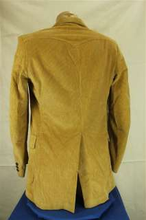Vintage LEE Tan Corduroy Western Style Blazer Suit Jacket 40L 40 Long