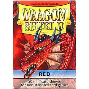 Dragon Shield Card Supplies YUGIOH Card Sleeves Red 50