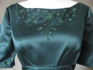 NWOT GREEN FORMAL BRIDAL PROM PARTY DRESS GOWN SIZE 6