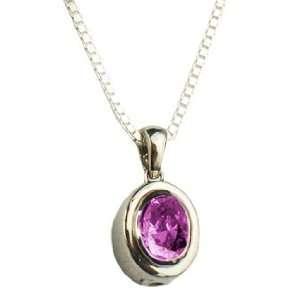 Alexandrite Birthstone Oval Cremation Jewelry Pendant   Silver   Gold