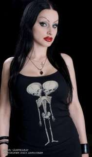 CONJOINED TWINS GIRL TANK TOP SHIRT SIDESHOW SKULL GOTH