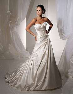 gown prom custom bridal weddingevening dress sweetheart neck A line