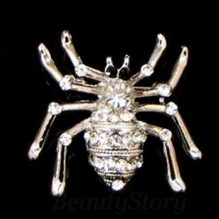 ADDL Item  rhinestone crystal animal brooch pin