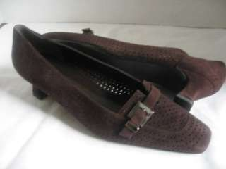 STUART WEITZMAN Perforated Brown Pumps Shoes Size 7 M