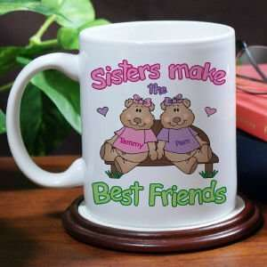Sisters, Best Friends Coffee Mug Kitchen & Dining