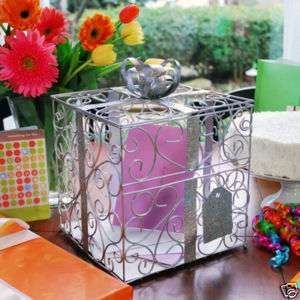 Metal Decorative Wedding Gift Card Holder Box : New Metal Decorative Wedding Gift Card Holder Box